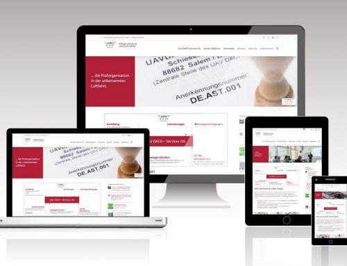 Eigene Webseite für UAVDACH-Services UG