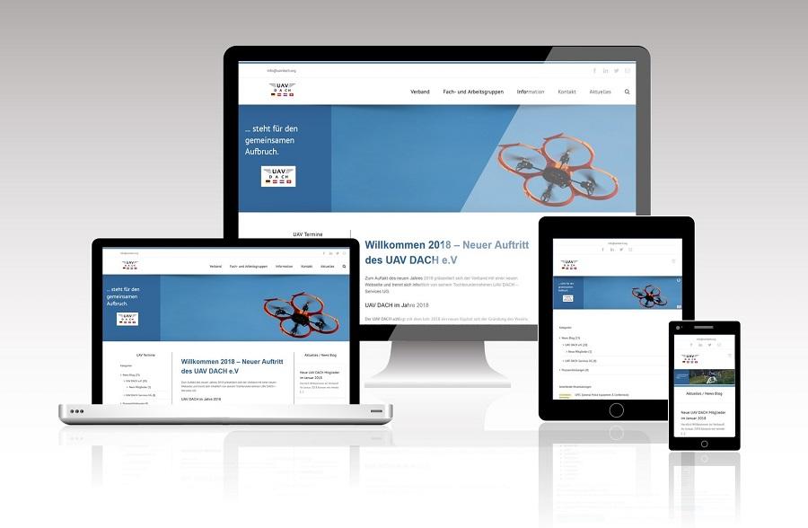 Webseite UAV DACH e.V. responsive