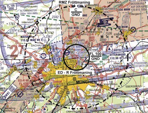 Flugbeschränkungsgebiet ED-R in München zur Fußball EM 2021 (15., 19., 23. Juni und 02. Juli 2021)