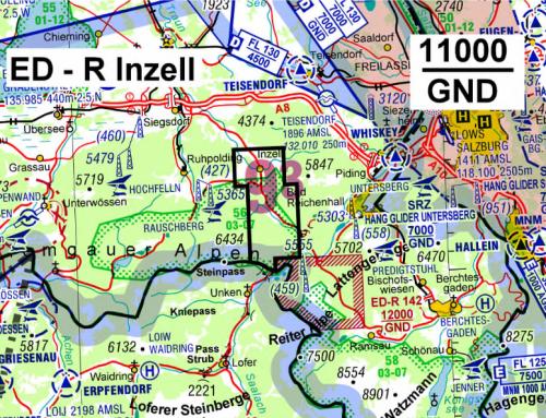 """NfL2021-1-2229 ED-R """"Inzell"""" – Einrichtung eines Gebietes mit Flugbeschränkungen für die militärische Übung """"Berglöwe"""" (21.6. – 30.6.2021)"""