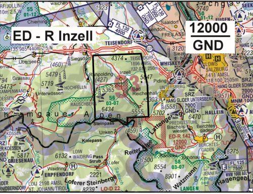"""AIP SUP 18/21 ED-R """"Inzell"""" – Einrichtung eines Gebietes mit Flugbeschränkungen für die militärische Übung """"Berglöwe"""" ((21 SEP 2021 – 05 OCT 2021)"""
