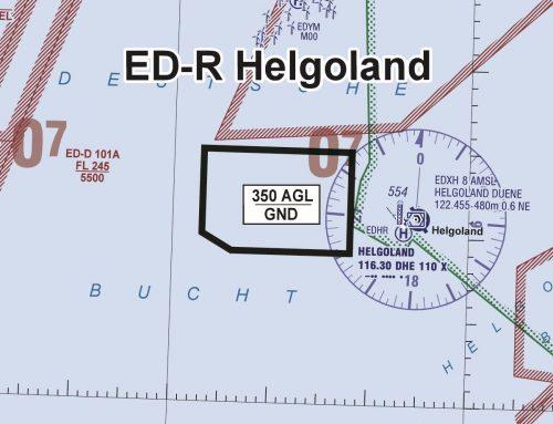 """ED-R """"Helgoland"""" zu einem UAS-Forschungsprojekt – NfL 2021-1-2290 SUP 19/21 (ab 15.8.2021)"""